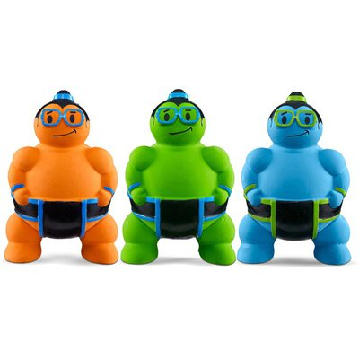 """Leaps & Bounds Latex Sumo Wrestler Dog Toy 3.5"""" L X 3.5"""" W X 5.5"""" H"""