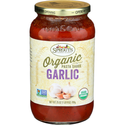 Sprouts Organic Garlic Pasta Sauce