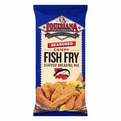 Louisiana Fish Fry Products Seafood Breading Mix, Fish Fry, Seasoned