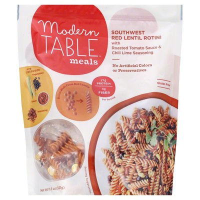Modern Table Meals, Red Lentil Rotini, Pouch