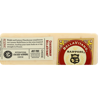 Sartori Cheese, Chardonnay Bellavitano, Reserve