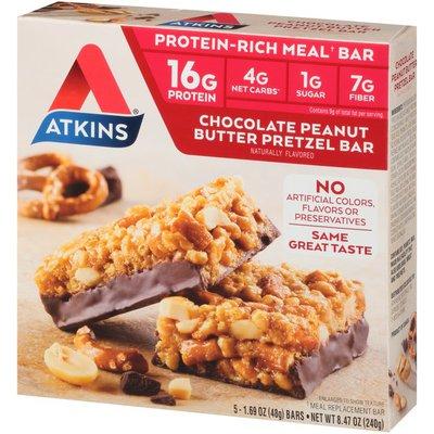 Atkins Chocolate Peanut Butter Pretzel Bar