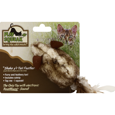 Play-N-Squeak Cat Toy, Shake Y'r Tail Feather