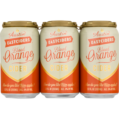 Austin East Ciders Hard Cider, Blood Orange
