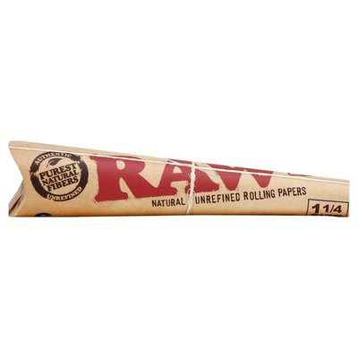 Raw Rolling Papers, Classic, Cone, 1-1/4 Size, 6 Pack