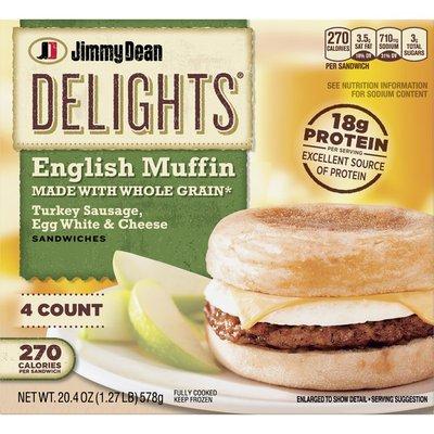 Jimmy Dean Turkey Sausage, Egg & Cheese Breakfast Sandwiches