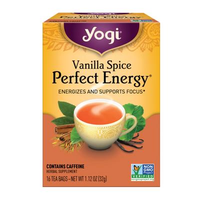 Yogi Tea Black Tea, Vanilla Spice Perfect Energy Tea, Energizes and Supports Focus