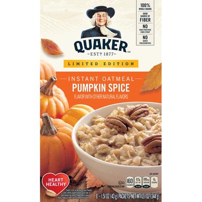Quaker Instant Oatmeal Pumpkin Spice Oatmeal