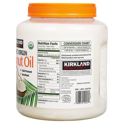 Kirkland Signature Organic Virgin Coconut Oil, 84 oz
