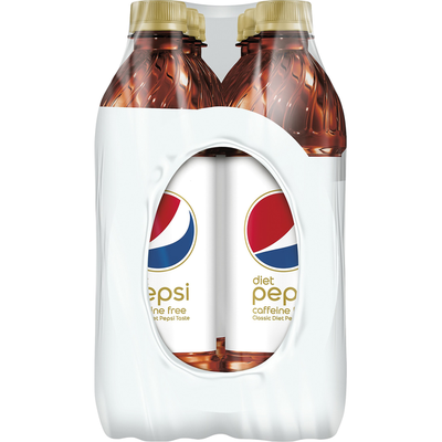 Pepsi Cola, Diet, Caffeine Free, 6 Pack