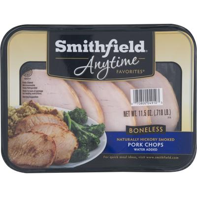 Smithfield Anytime Favorites Naturally Hickory Smoked Pork Chops