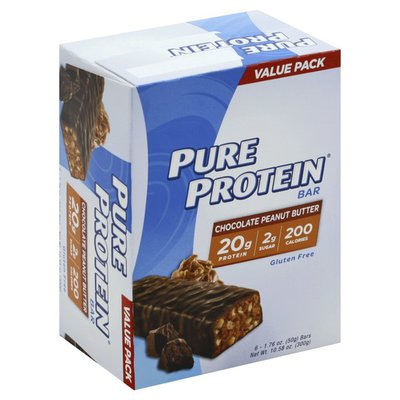 Pure Protein Bar Chocolate Peanut Butter - 6 CT