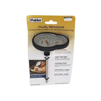 Polder Dual Sensor In Oven Thermometer