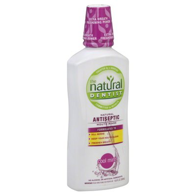 The Natural Dentist Mouth Rinse, Natural Antiseptic, Cool Mint