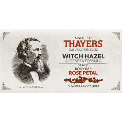 Thayers Thayers Rose Petal Scented Witch Hazel & Aloe Vera Formula Body Bar