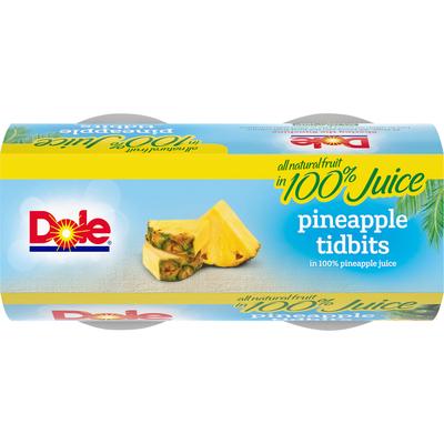 Dole Pineapple, Tidbits, In 100% Pineapple Juice