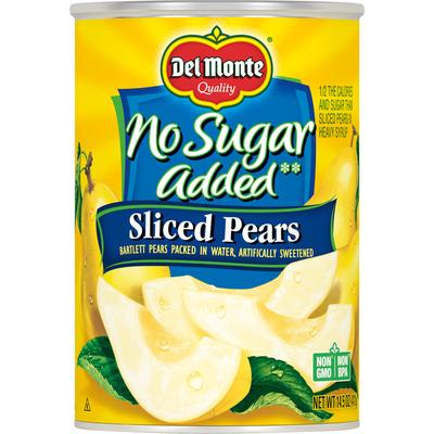 Del Monte Pears, No Sugar Added, Sliced