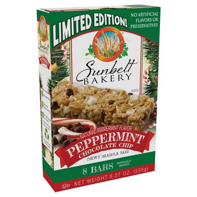 Sunbelt Bakery Chewy Granola Bars, Peppermint Chocolate Chip