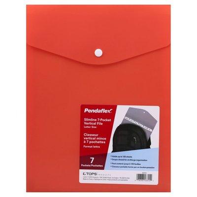 Pendaflex Slimline 7-Pocket, Vertical File, Letter Size