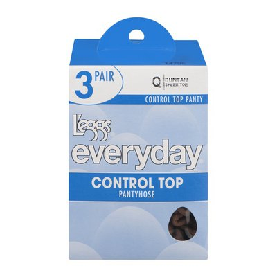L'eggs Everyday Control Top Pantyhose Q Sheer Toe Suntan - 3 CT