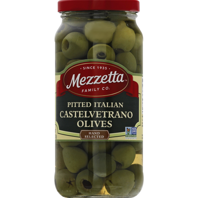 Mezzetta Olives, Castelvetrano, Pitted, Italian