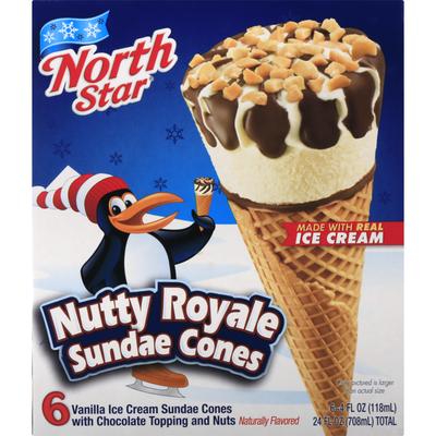 Northstar Sundae Cones, Nutty Royale