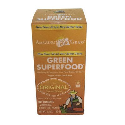 Amazing Grass Green Superfood Plus Nutritious Fruits & Veggies For Health & Wellness Whole Food Supplement Packets, The Original