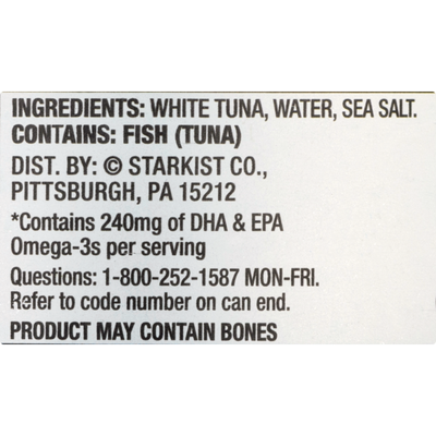 StarKist Selects® Solid White Albacore Tuna in Water - 4.5 oz Can