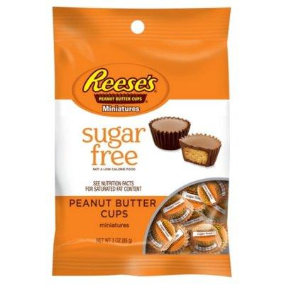 Reese's Chocolate Candy & Peanut Butter, Zero Sugar, Miniature Cups