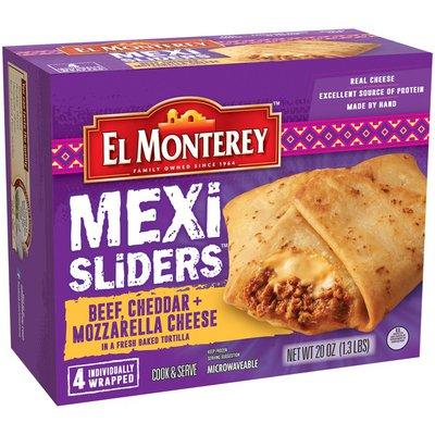 El Monterey Mexi Beef, Cheddar + Mozzarella Cheese Sliders