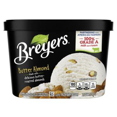 Breyers Frozen Dairy Dessert Butter Almond