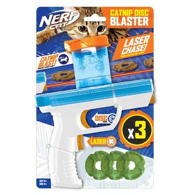 "NERF DOG 3 Pack 7.88"" Catnip Disc Blaster Cat Toy - Small"