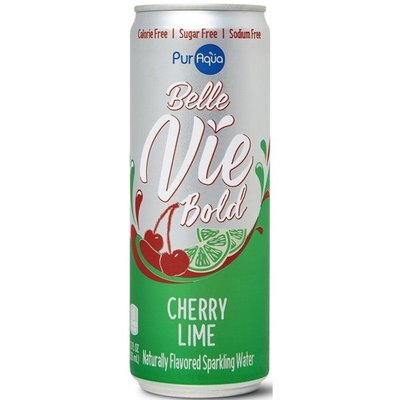 PurAqua Cherry Lime Flavored Sparkling Water