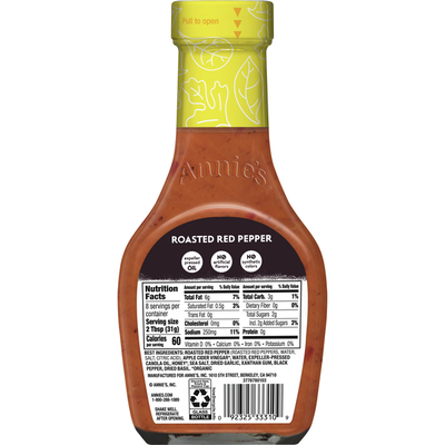 Annie's Roasted Red Pepper Salad Dressing, Non-GMO