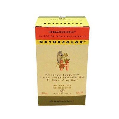 Naturcolor Permanent Spagyric Herbal Based Hair Color Gel, 6N Sagebrush Brown