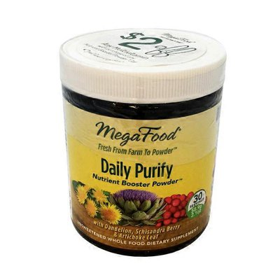MegaFood Daily Purify Nutrient Booster with Dandelion, Schisandra Berry & Artichoke Leaf UNSWEETENED WHOLE FOOD DIETARY SUPPLEMENT Powder