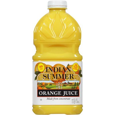 Indian Summer 100% Juice From Concentrate Orange Juice