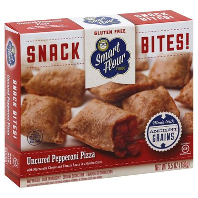 Smart Flour Foods Snack Bites, Uncured Pepperoni Pizza