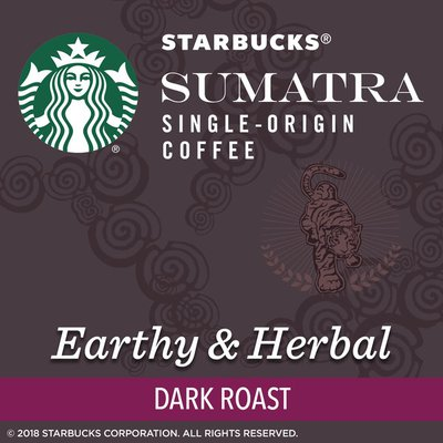 Starbucks Dark Roast K-Cup Coffee Pods — Sumatra for Keurig Brewers