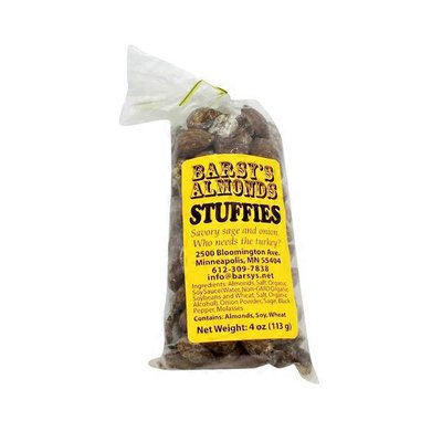 Barsy's Almonds Stuffies Savory Sage and Onion Flavored Almonds