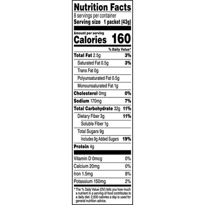 Quaker Select Starts Gluten Free Maple Brown Sugar