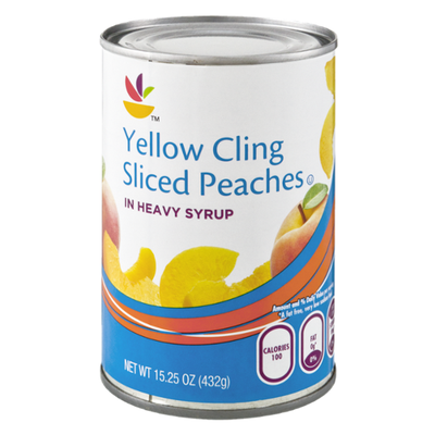 SB Yellow Cling Sliced Peaches in Heavy Syrup