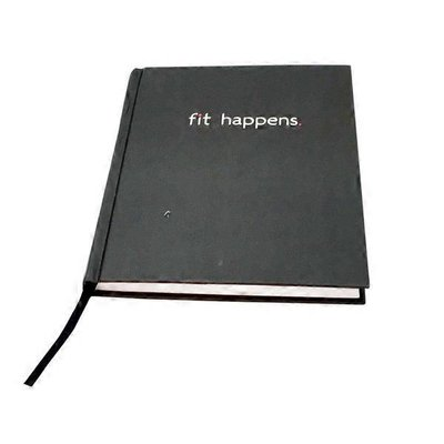 Fitlosophy Black Fit Happens Book Bound Guided Journal