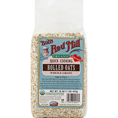 Bob's Red Mill Rolled Oats, Organic, Quick Cooking