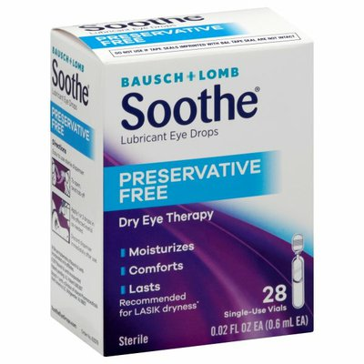 Bausch + Lomb Lubricant Eye Drops, Preservative Free