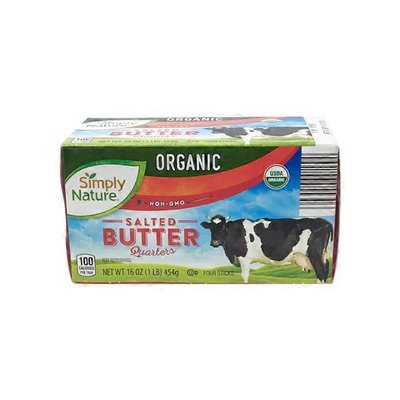 Simply Nature Quarter Organic Salted Butter