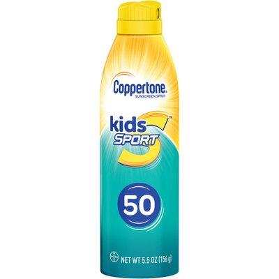 Coppertone Kids Sport Sunscreen Water Resistant Spray SPF 50