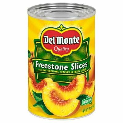 Del Monte Peaches, Freestone Slices, Yellow In Heavy Syrup