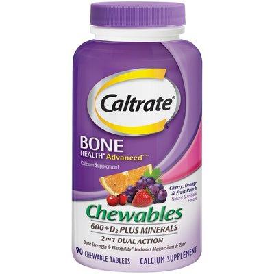 Caltrate Bone Health 600+D3 Plus Minerals Chewables, Bone Health 600+D3 Plus Minerals Chewables