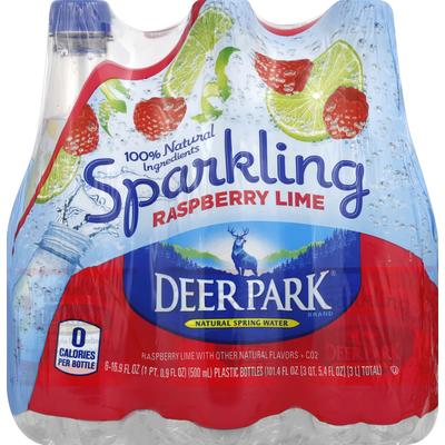 Deer Park Water, Natural Spring, Raspberry Lime